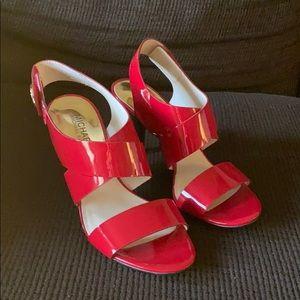 Michael Kors red patent sandals